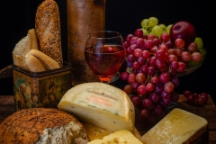 Bread, Cheeses, and Wine