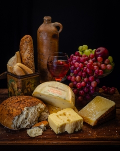 Still Life with Bread and Cheeses