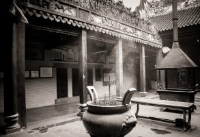 Weekly Photo Challenge ~ Inside ~ a Buddhist Temple, Saigon