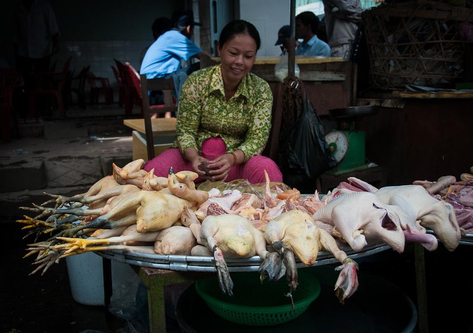 Poultry Vendor - Mekong River, Vietnam