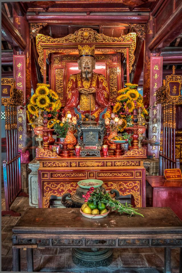 Confucius, Temple of Literature, Hanoi, Vietnam