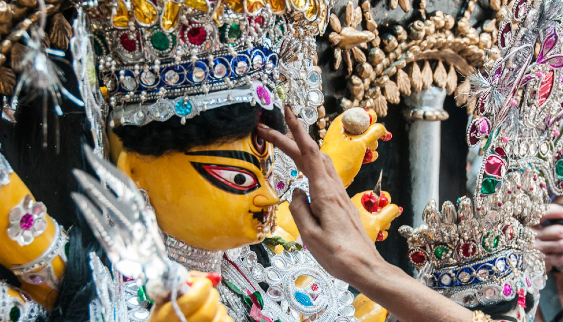 Durga Puja, the Worship of the Hindu Goddess Durga, Returns to Calcutta, India (part 2)