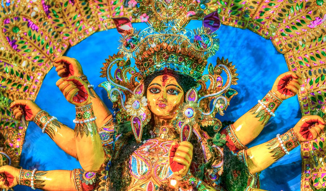 Durga Puja, the Worship of the Hindu Goddess Durga, Returns to Calcutta, India (part 1)