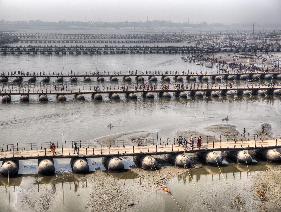 Kumbh Mela Pontoon Bridges