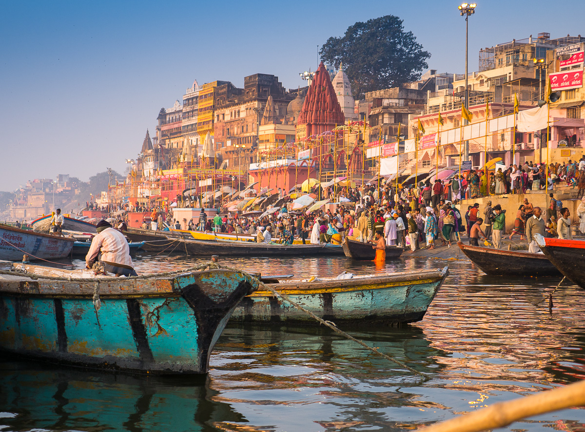 Golden Hour – Morning on the Ghats of Varanasi
