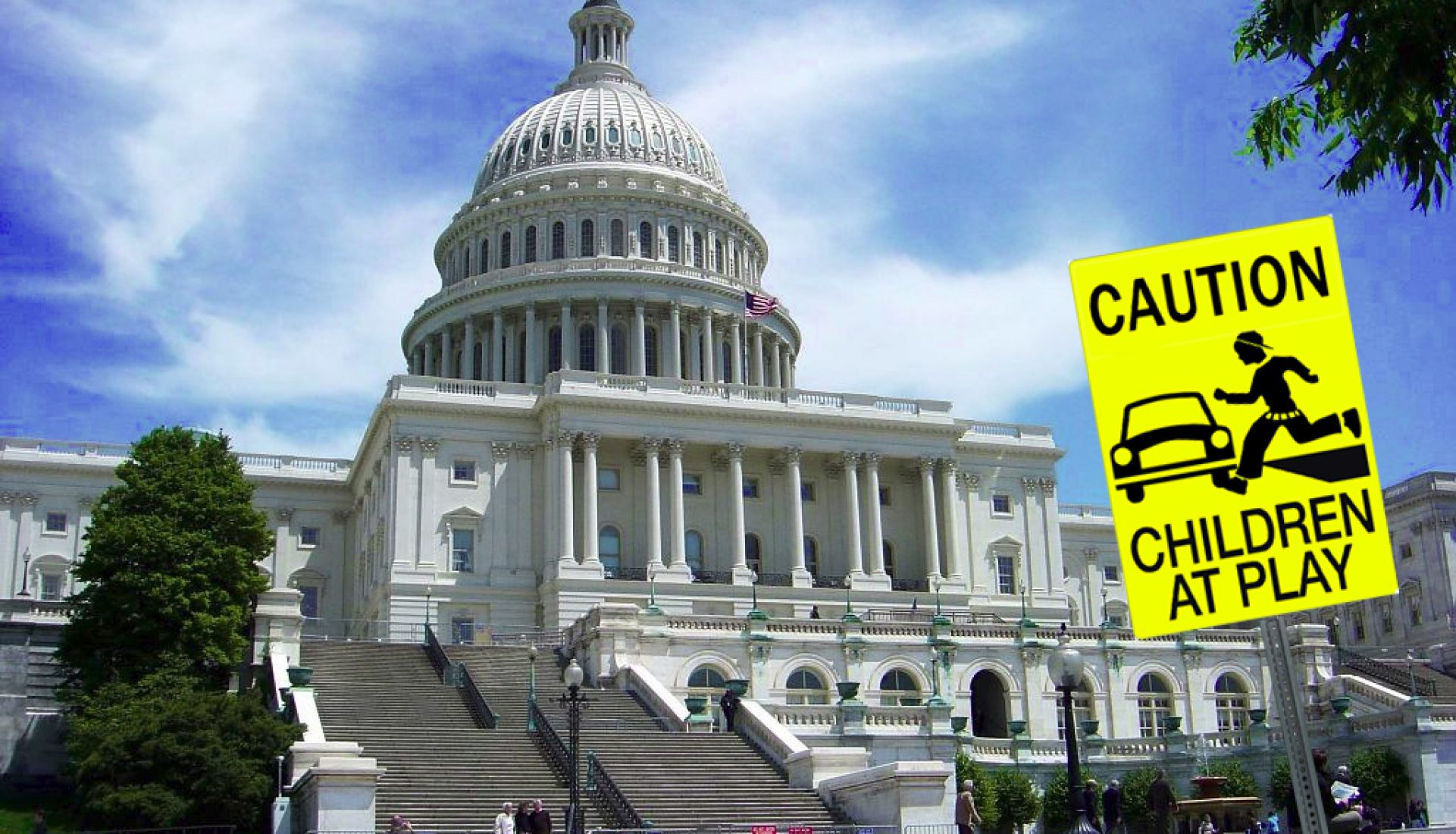 U. S. Capitol – Caution Children at Play – Revisited