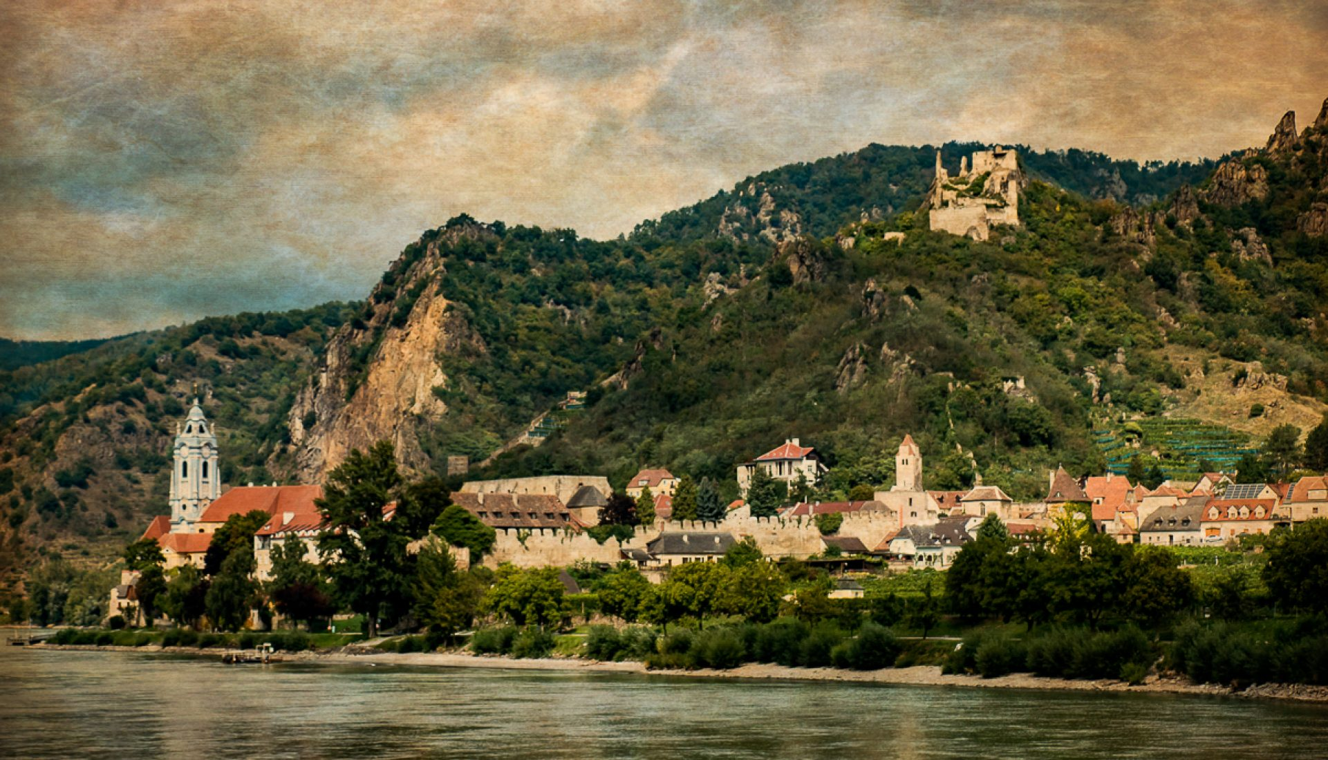Beautiful Duernstein, Austria Along the Danube River