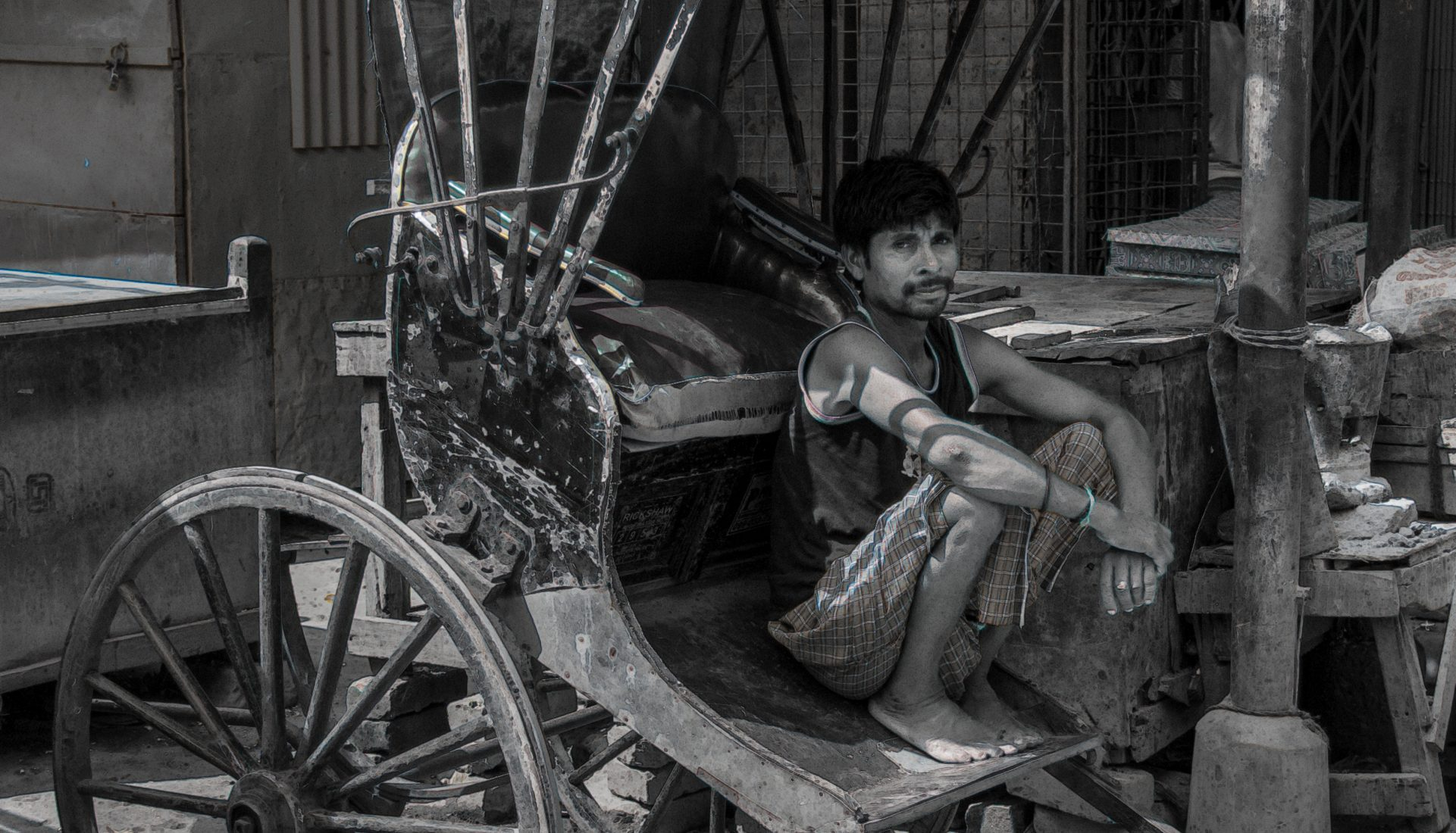 Rickshaw Pullers of Calcutta