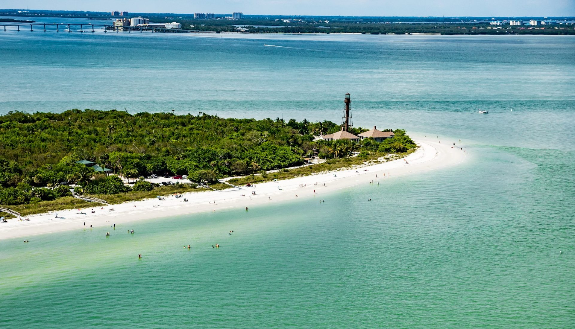 Sanibel Island Light and Boca Grande Lighthouse stand as sentinels for Pine Island Sound
