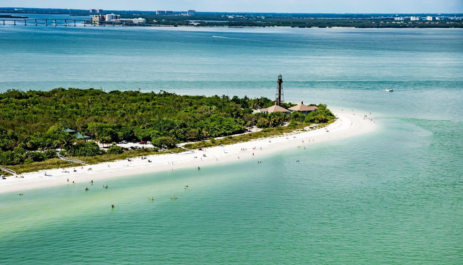 Sanibel Island Light and Boca Grande Lighthouse stand as sentinels for Pine Island Sound