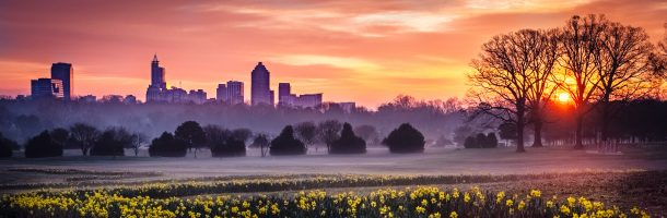 Sun Rises Over Raleigh, NC
