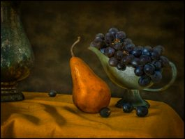 Still Life with Pear and Grapes: New Work