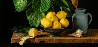 Hydrangeas and Lemons | a Still Life Photograph