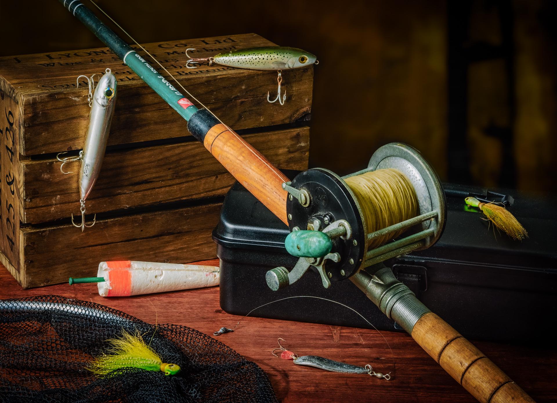 My Father's Fishing Rod - Still Life