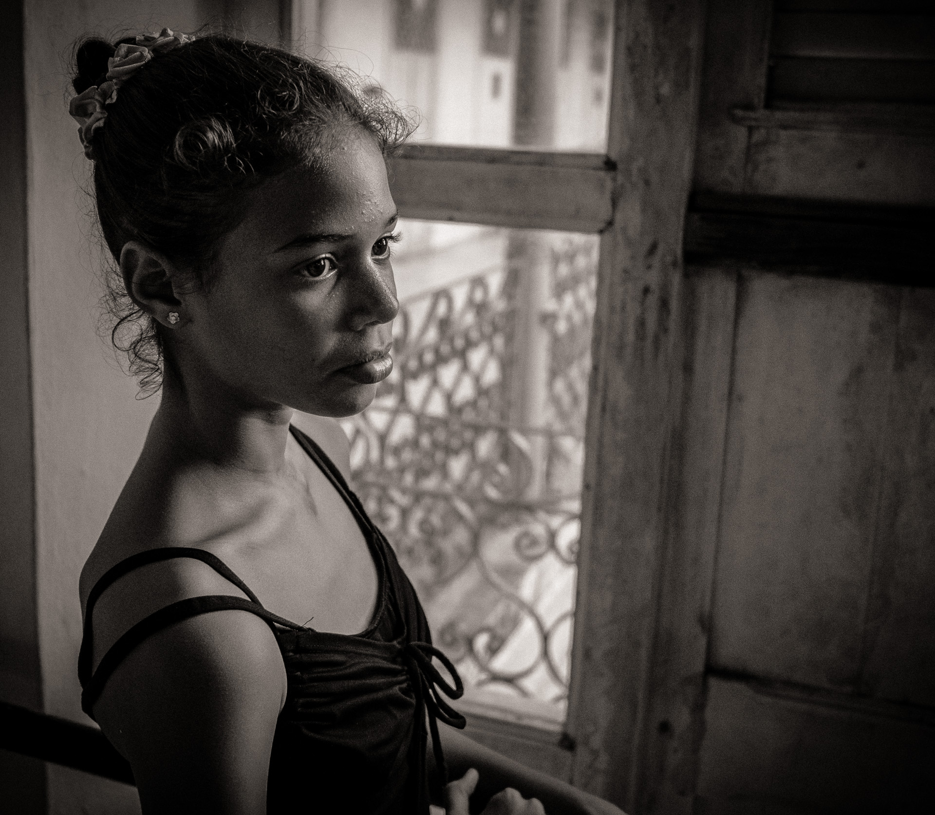 Portrait of a young ballerina in Havana, Cuba