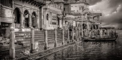 The Vishram Ghat at Mathura, India | Monochrome Monday
