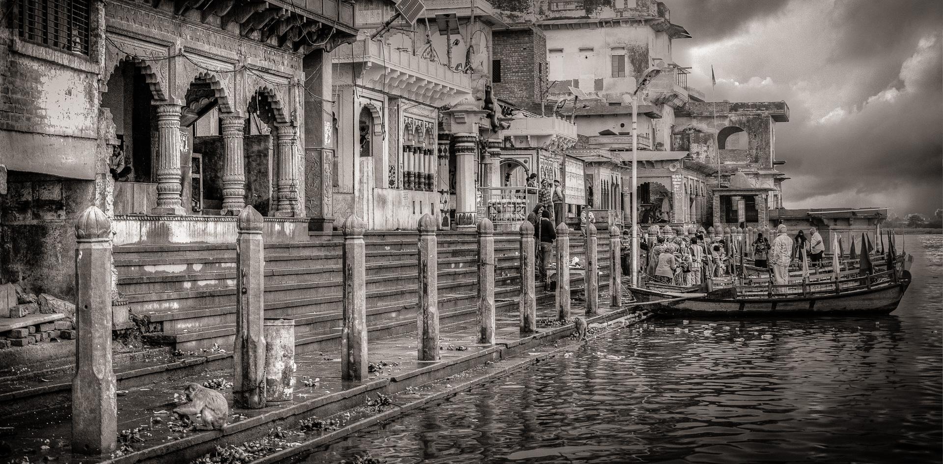 The Vishram Ghat at Mathura, India | Monochrome Monday