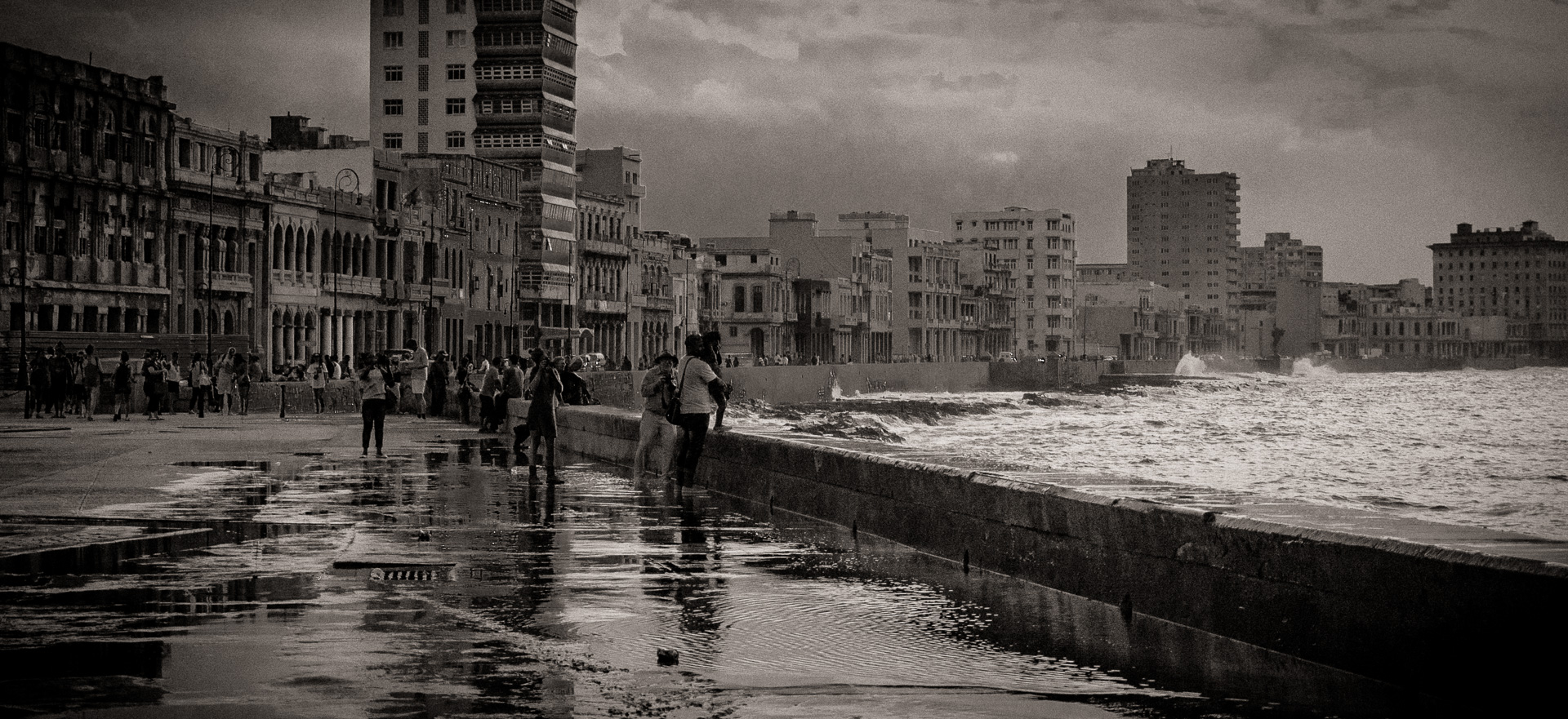 The Malacon – Havana,Cuba  Monochrome Monday