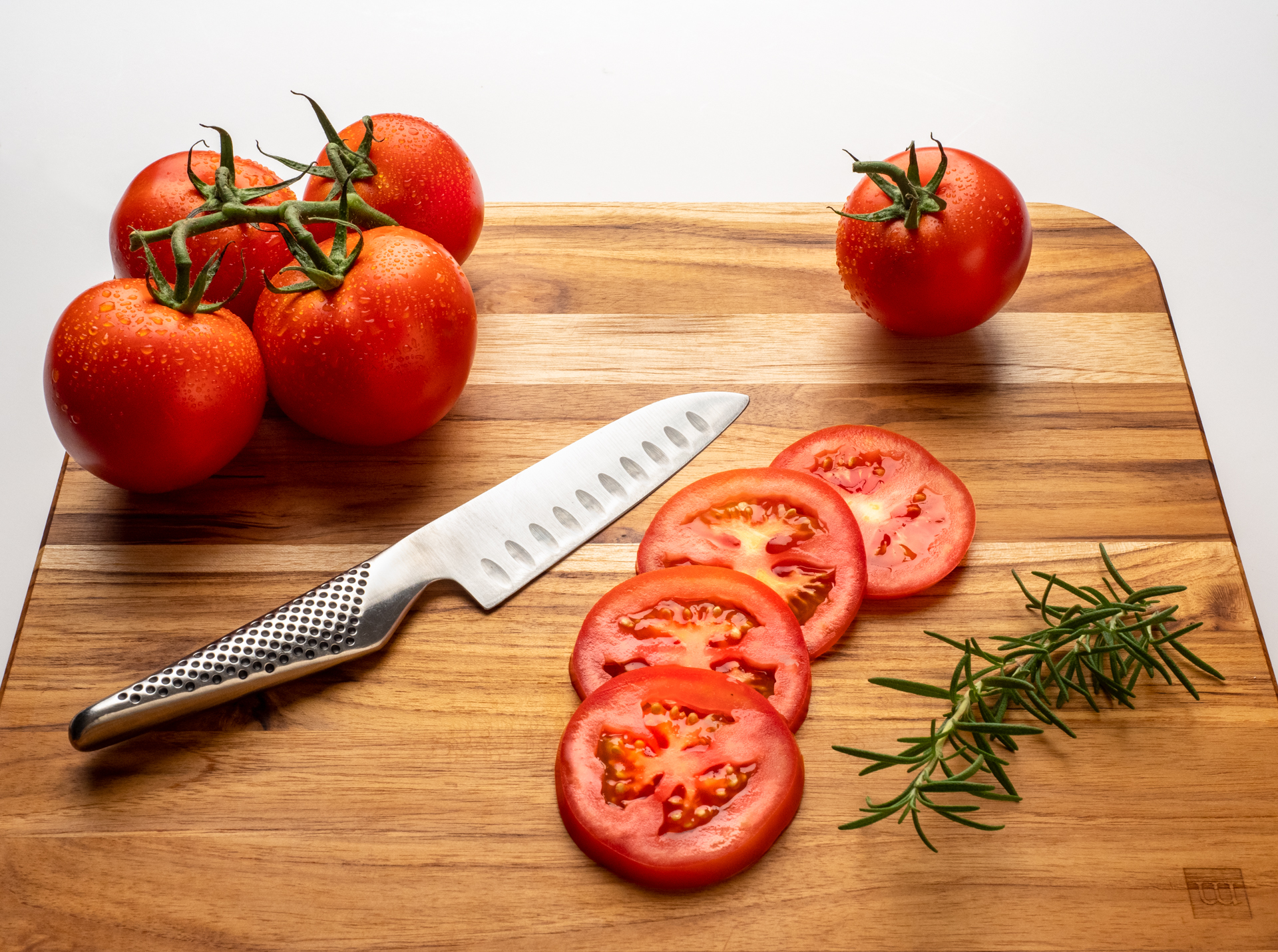 Sliced Tomatoes | High Key Still Life Photograph