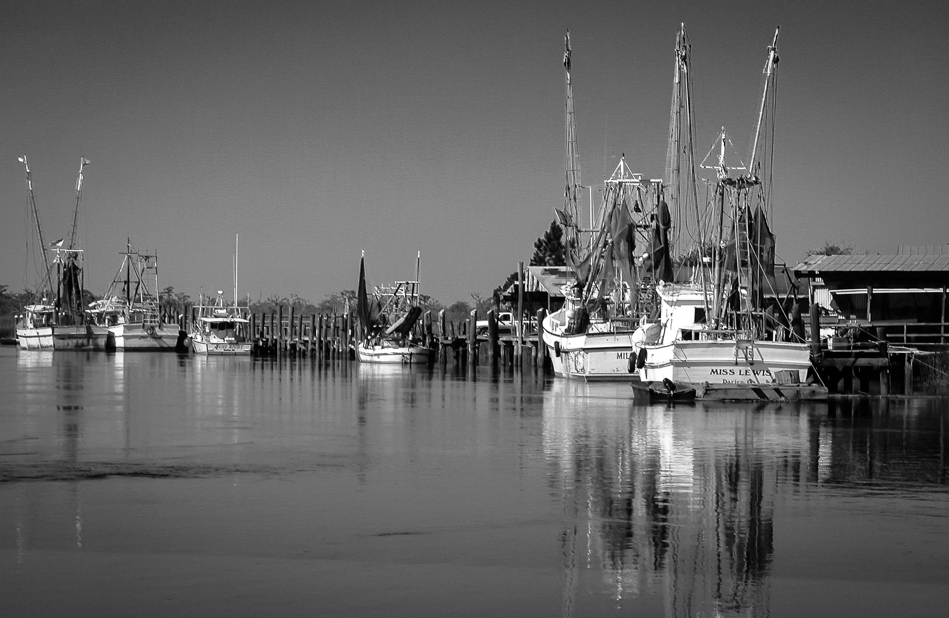 Shrimpers at Rest | Monochrome Monday