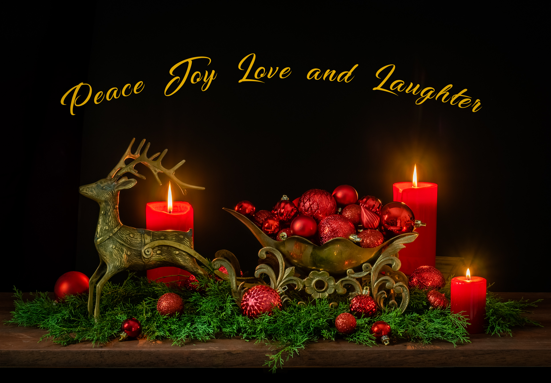 Happy Holidays - Peace, Joy, Love and Laughter