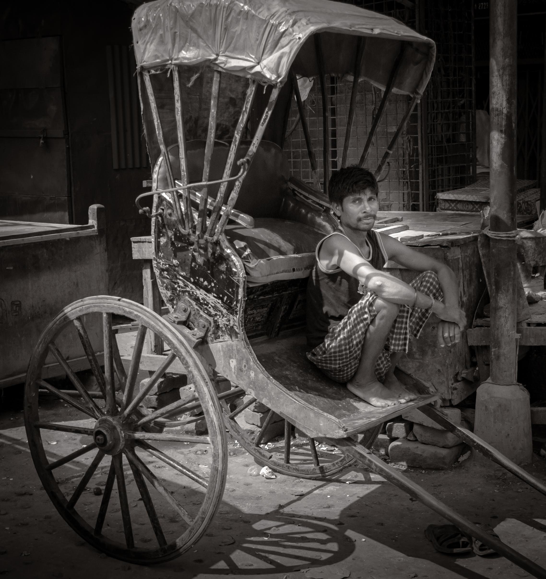 Rickshaw Puller, Calcutta, India