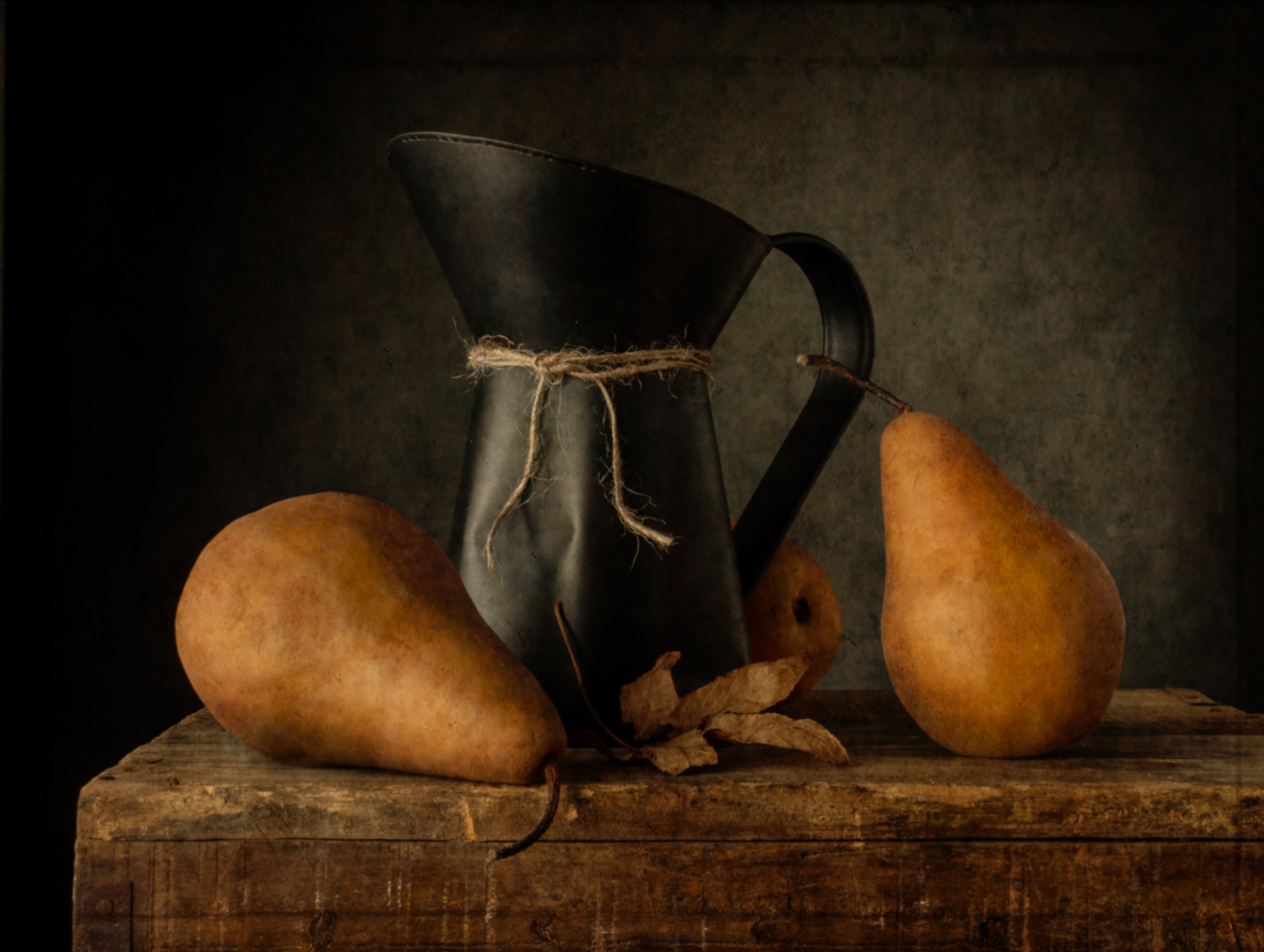 Three Pears and a Pitcher-