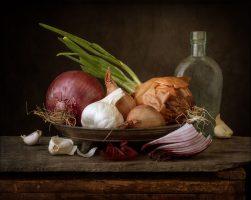 Shallots, Onions, and Garlic | a Still Life
