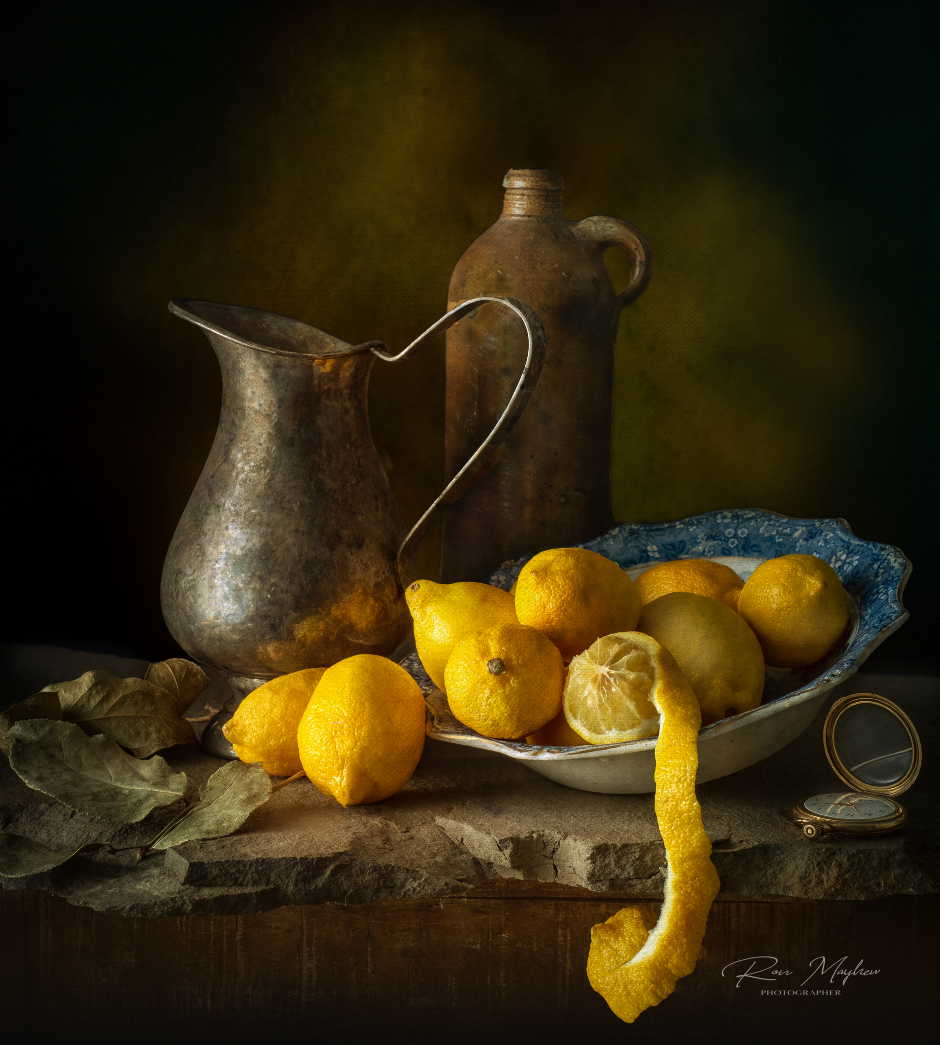 Still Life with Lemons and Silver Jug
